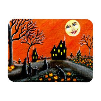 "Halloween scene magnet"" Ripening Jack-O-Lanterns"" Magnet"
