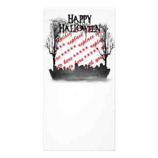 Halloween Scene Photo Frame Photo Greeting Card