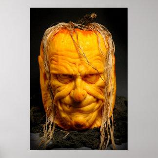 Halloween Sculpted Jack-O'-Lantern Poster