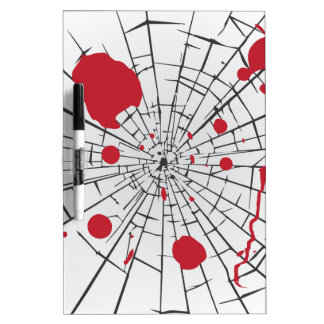 halloween shattered glass dry erase board