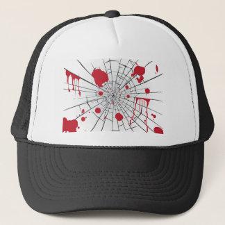 halloween shattered glass trucker hat