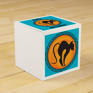 Halloween Silhouettes Cat Gift Box Wedding Favour Boxes