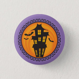 Halloween Silhouettes Haunted House Badge