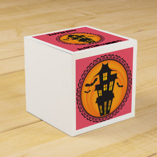 Halloween Silhouettes Haunted House Gift Box Favour Box