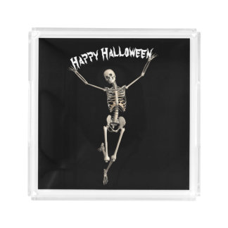 Halloween Skeleton Acrylic Tray