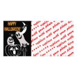 Halloween Skeleton Animals Gang Customized Photo Card