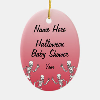 Halloween Skeleton Baby Shower Oval Ornaments