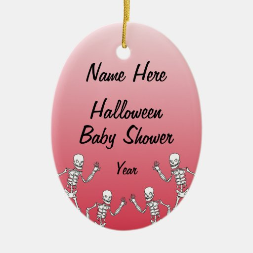 Halloween Skeleton Baby Shower Oval Ornaments