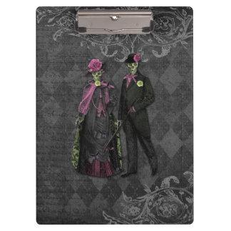 Halloween Skeleton Couple Clipboard