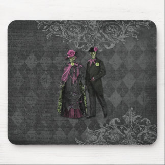 Halloween Skeleton Couple Mouse Pad