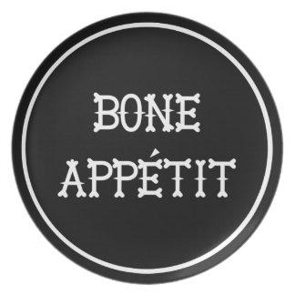 Halloween Skeleton Dinner Plate