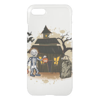 Halloween skeleton haunted house iPhone 7 case