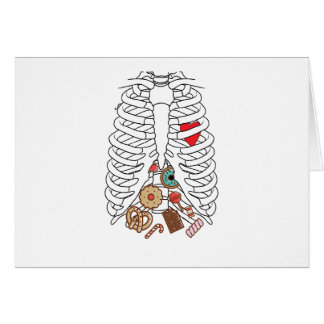 Halloween Skeleton Rib X-ray Candy Funny Card