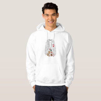 Halloween Skeleton Rib X-ray Candy Funny Hoodie