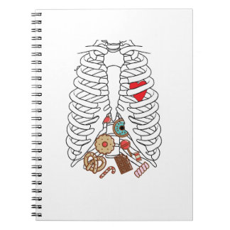 Halloween Skeleton Rib X-ray Candy Funny Notebook