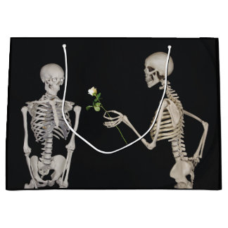 Halloween Skeleton Romance Large Gift Bag
