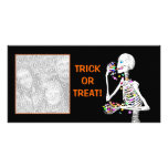 Halloween Skeleton Treats Personalized Photo Card