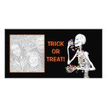 Halloween Skeleton Treats Photo Greeting Card