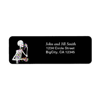 Halloween Skeleton Treats Return Address Label