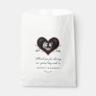 Halloween Skeletons Heart LOVE Wedding Names Favour Bags