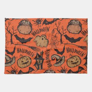 Halloween sketch! tea towel