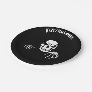 "Halloween Skull 7"" Paper Plates"