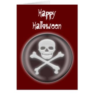 Halloween Skull and cross-bones Greeting Card