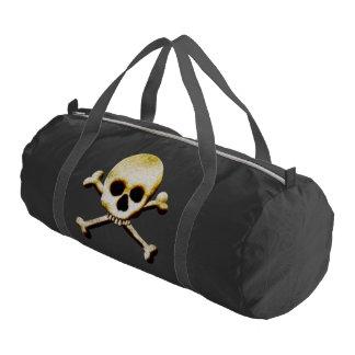 Halloween Skull And Crossbones Gym Bag Gym Duffel Bag