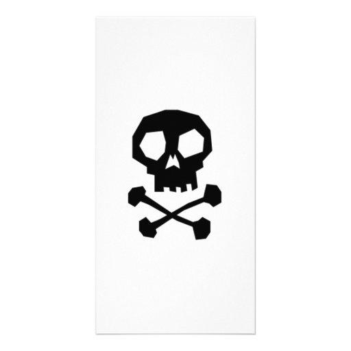 Halloween Skull and Crossbones Photo Greeting Card
