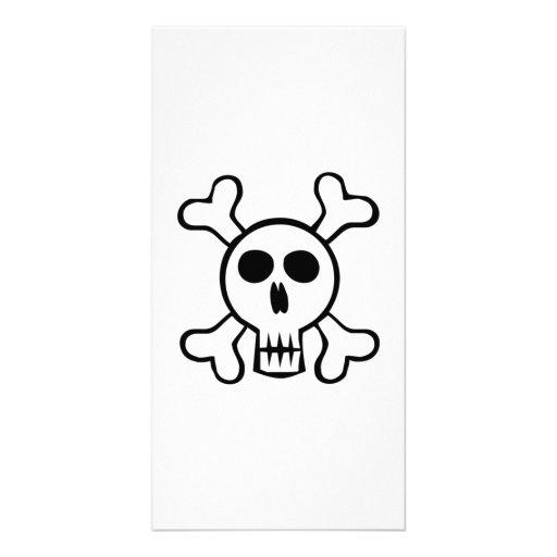 Halloween Skull and Crossbones Custom Photo Card