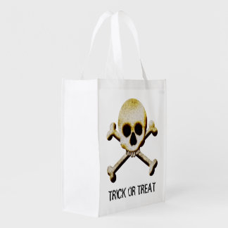 Halloween Skull And Crossbones Trick Or Treat Bag Market Tote