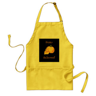 Halloween skull and pumpkin standard apron