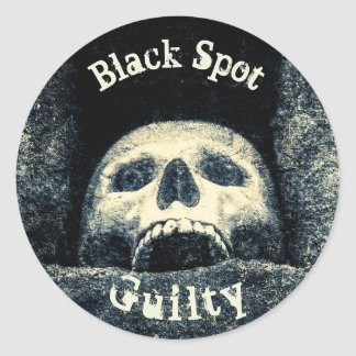 Halloween Skull Black Spot Guilty Classic Round Sticker