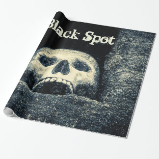 Halloween Skull Black Spot Wrapping Paper