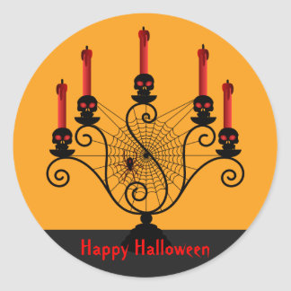 Halloween Skull Candelabra and Spider Stickers
