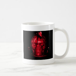 Halloween Skull Candle (Red) Basic White Mug