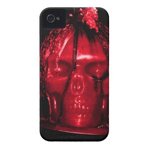 Halloween Skull Candle (Red) iPhone 4 Case