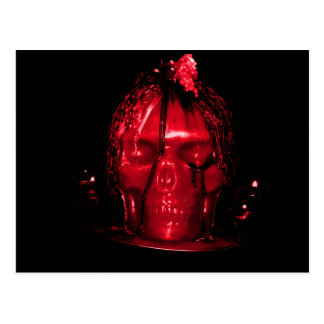 Halloween Skull Candle (Red) Postcard