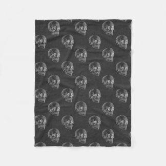 Halloween Skull Chalkboard Pattern Fleece Blanket