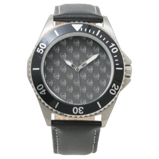 Halloween Skull Chalkboard Pattern Wristwatches