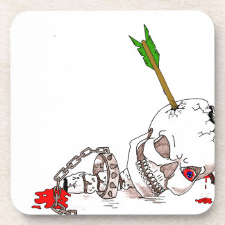Halloween Skull Beverage Coaster