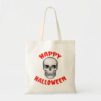 Halloween Skull Fabric Tote Bag