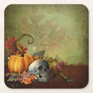 Halloween Skull Paper Coaster Square Paper Coaster