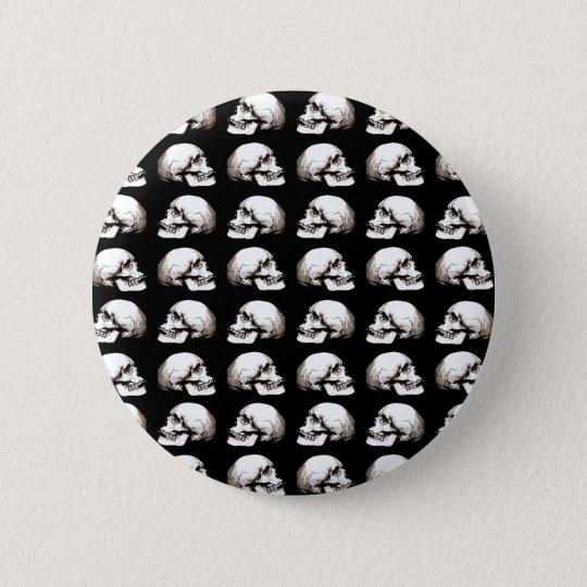 Halloween skull pattern 6 cm round badge