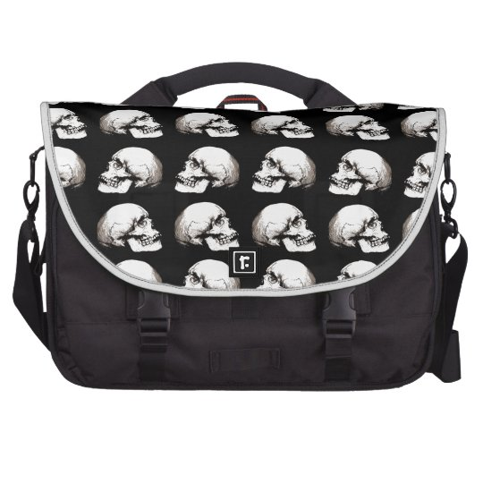 Halloween skull pattern bag for laptop