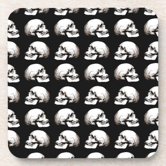 Halloween skull pattern coaster