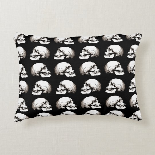 Halloween skull pattern decorative cushion
