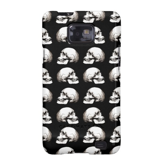 Halloween skull pattern galaxy s2 cover