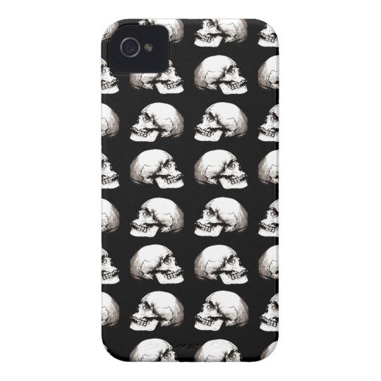 Halloween skull pattern iPhone 4 Case-Mate cases
