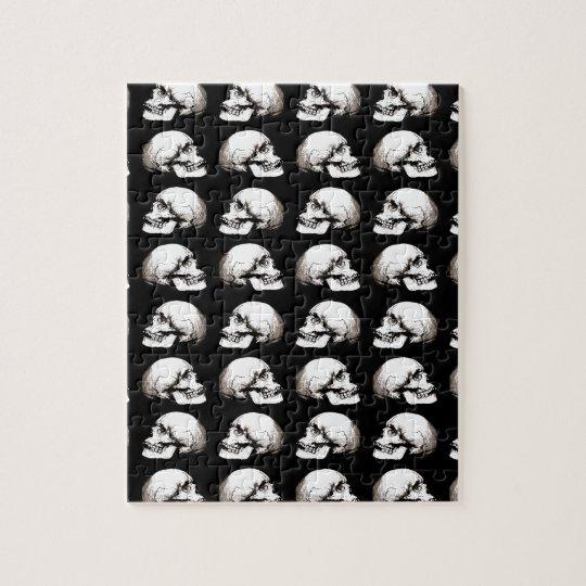 Halloween skull pattern jigsaw puzzle